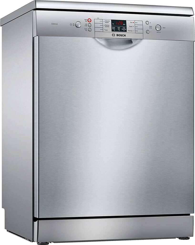 #01 Best Dishwasher in India - Bosch 12 Place Settings Dishwasher (SMS66GI01I, Silver Inox)