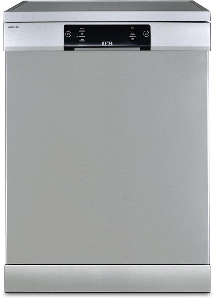 #03 Best Dishwasher in India - IFB Neptune SX1 15 Place Settings Dishwasher (Stainless Steel)