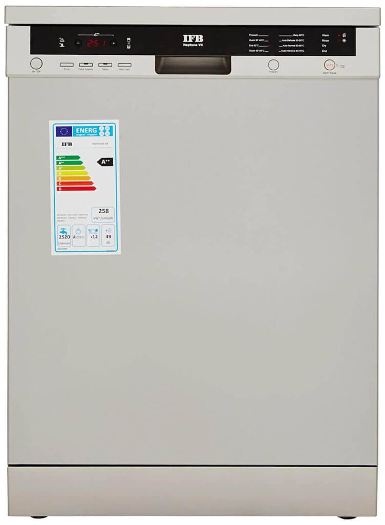 #04 Best Dishwasher in India - IFB Neptune VX Fully Electronic Dishwasher (12 Place Settings, Dark Silver)