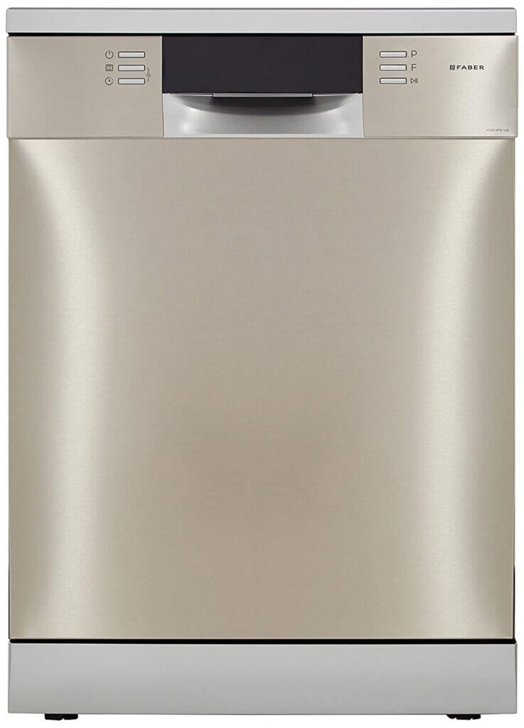 #06 Best Dishwasher in India - Faber 14 Place Settings Dishwasher (FFSD 8PR 14S, Silver)