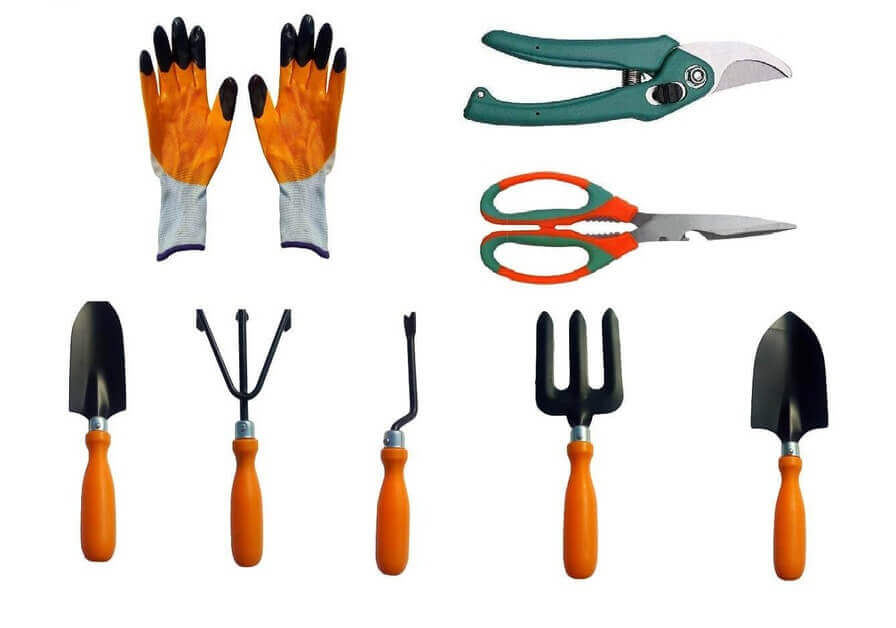 Gardening Tools Set of 8 Equipments